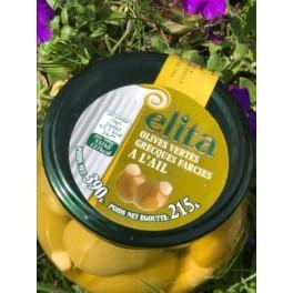 Elita olives vertes grecques farcies à l'ail - 390gr